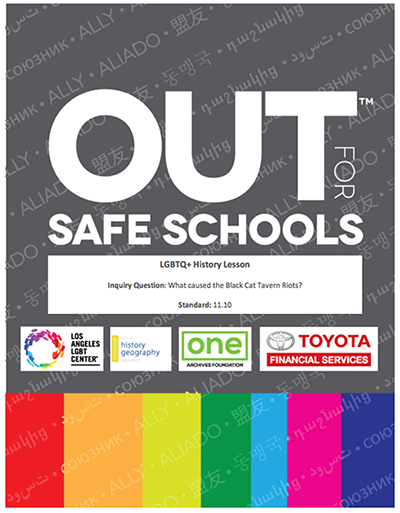 Out For Safe Schools Lesson Plans