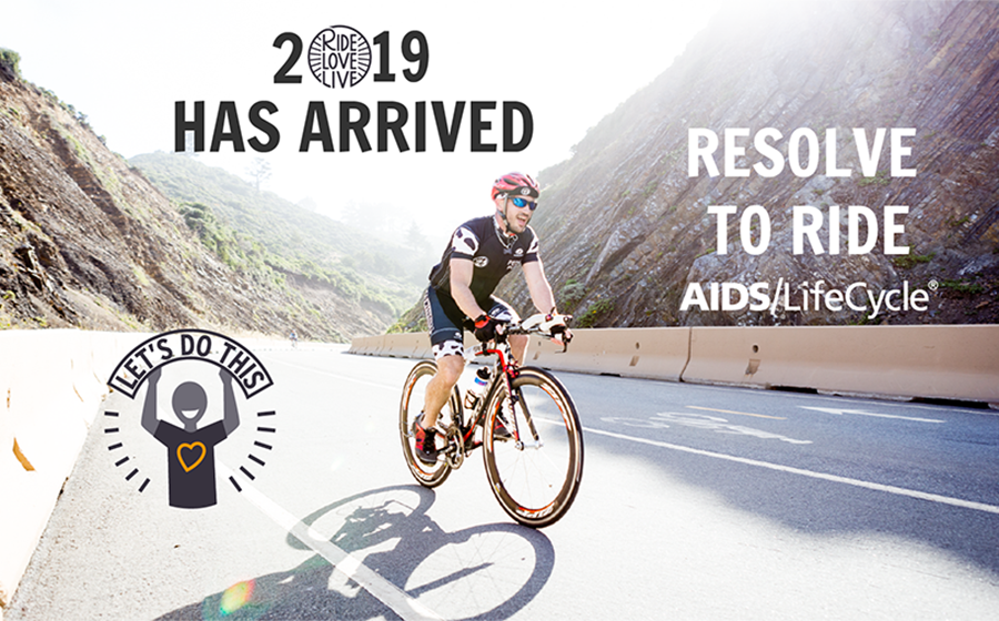 Resolve to ride AIDS/LifeCycle